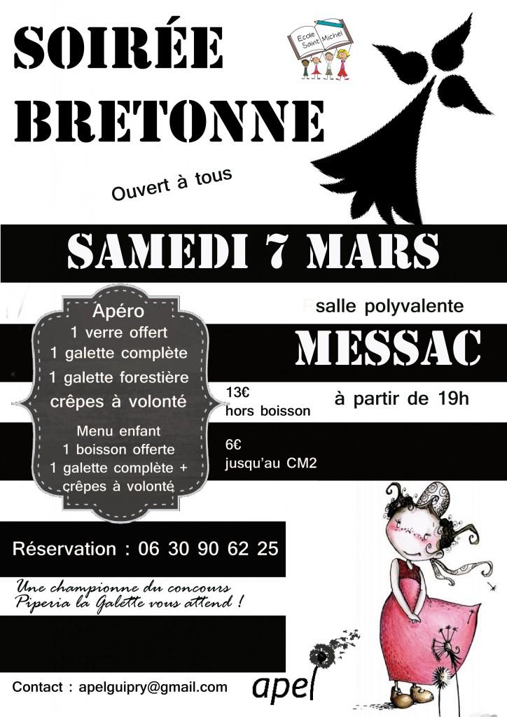 affiche repas breton Guipry