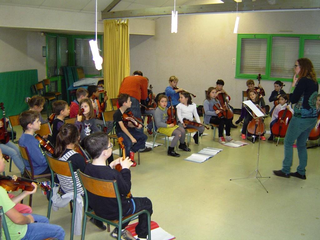 L'orchestre s'installe